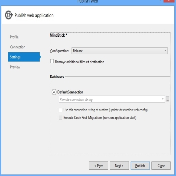 Deploying ASP.NET MVC Application