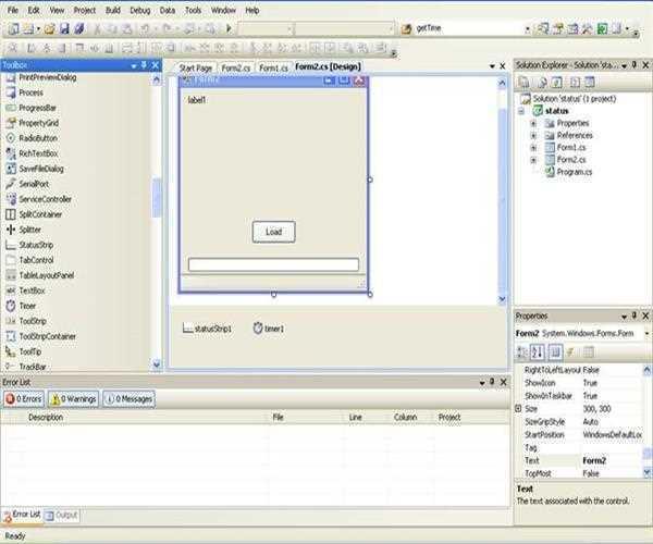 Using Progress Bar Status Bar Timer Control in CSharp  NET