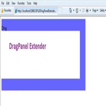 Ajax Toolkit DragPanelExtender Control in ASP.Net