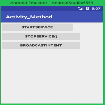 How to start and stop services  and broadcast in Android