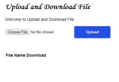 Upload and Download File in Node JS