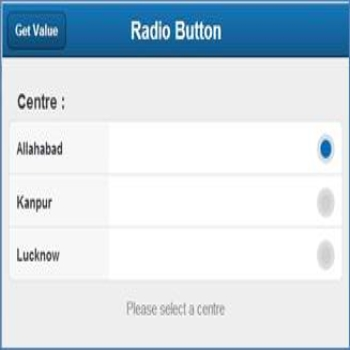 Radio Button in Sencha Touch