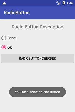 Radio Button in android