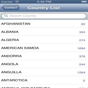 Implementing Country List in TableView