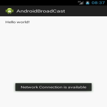 Broadcast receiver in Android