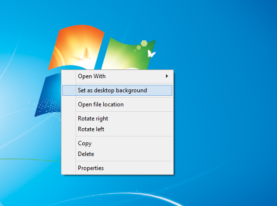 How to change desktop background in windows OS