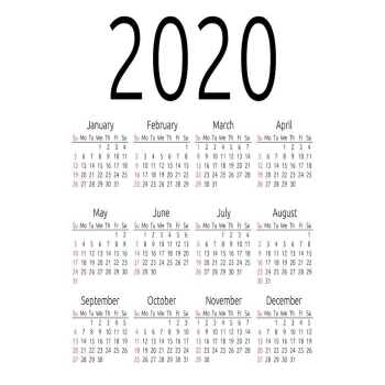 Download Free Printable Calendar 2020 Template- Online PDF