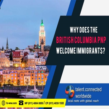 Why does the British Columbia PNP welcome immigrants?