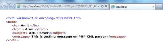 XML Document Object Model (DOM) in PHP