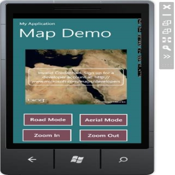 Map Control in Windows 7 Phone Development