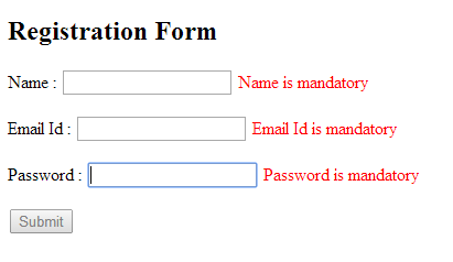 AngularJs Form & Validation