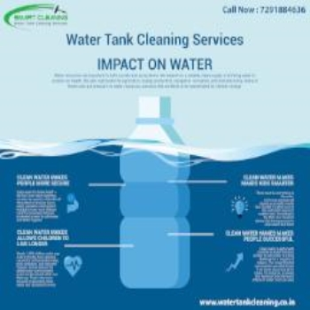 What are the basic steps involved in water tank cleaning?