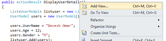 Simple Way of Binding List of Objects to View using MVC