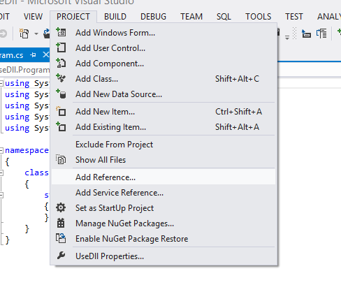 Creating and Using Dll (Dynamic Link Library) in C#