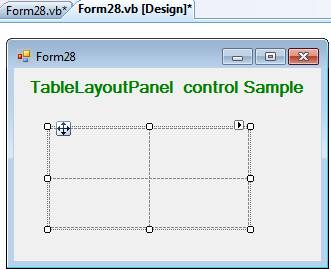 TableLayoutPanel Control in VB.Net
