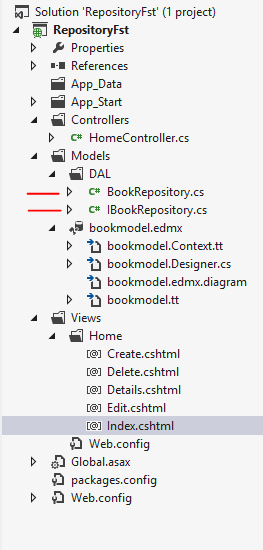 CRUD operation in MVC with Repository Pattern
