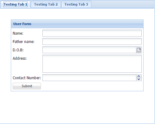 Design of Card view with tab in Sencha ExtJs