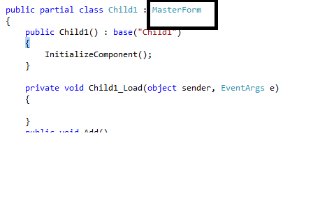 Master Page in C# Window forms- Part II