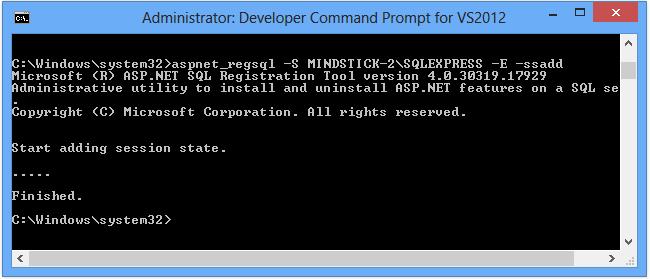 SQLServer session state in asp.net