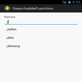 Simple Search implementation in android