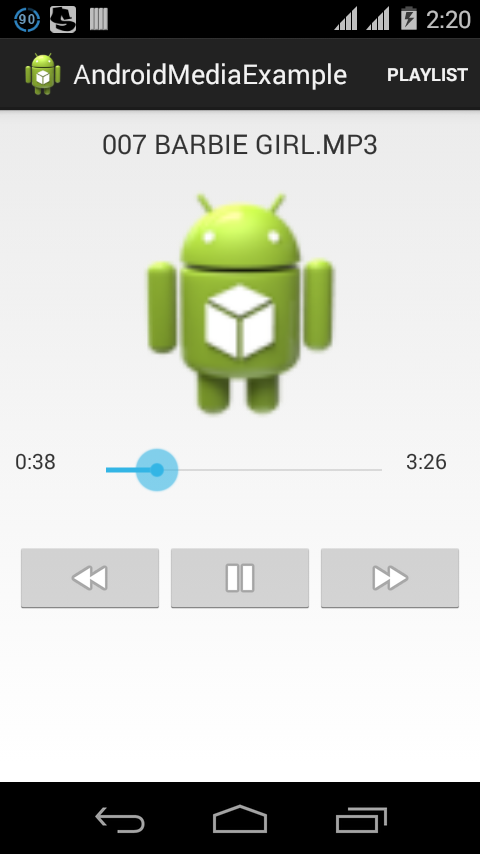 Custom Media player in Android