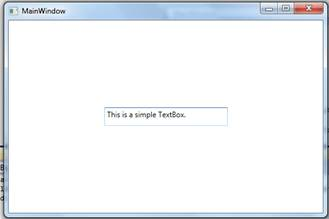 Textbox control in WPF