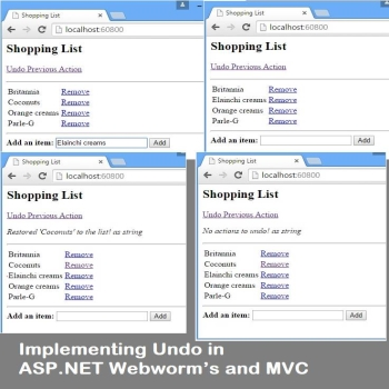 Implementing Undo in ASP.NET Webworm's and MVC