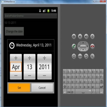 Date Picker in Android Application