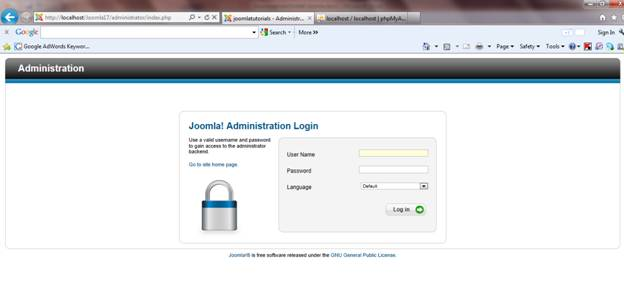Download and Install JOOMLA