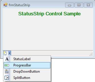 StatusStrip Control in C# Net