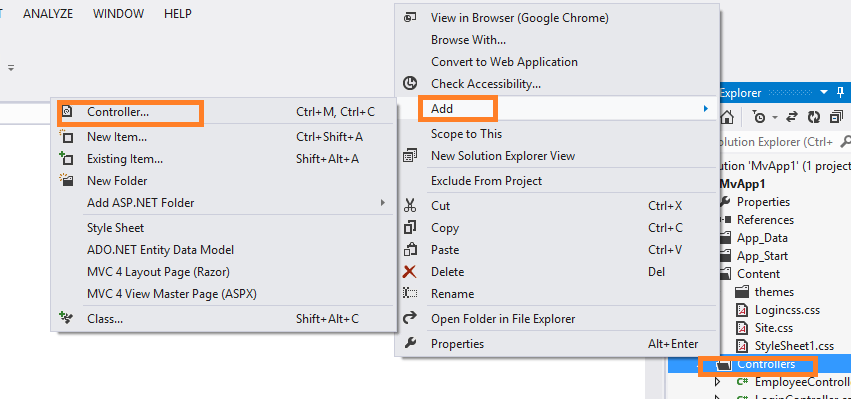 Implement Login Page Using Entity FrameWork in MVC