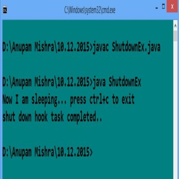 Shutdown Hook in Java