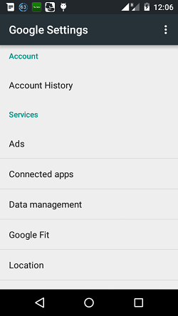How to stop Google search history on Android