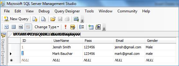 Insert, Delete, Update in SQL using web service in ASP.NET