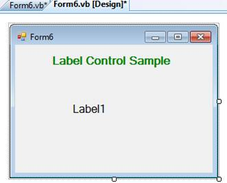 Label Control in VB.Net