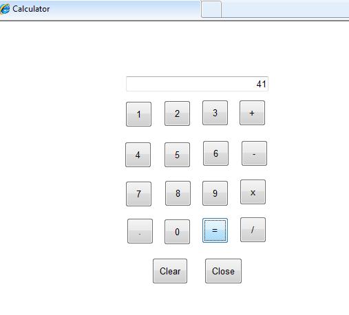 Calculator in ASP Net using Javascript
