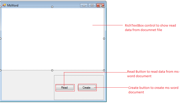 Create Microsoft Word Document by using C#