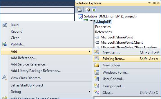 Insert, Update, Delete in SharePoint 2010 using LINQ