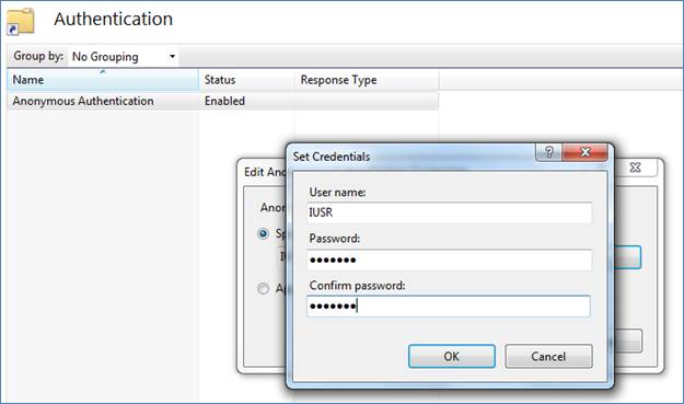 Configuration of Virtual Directory in IIS 7