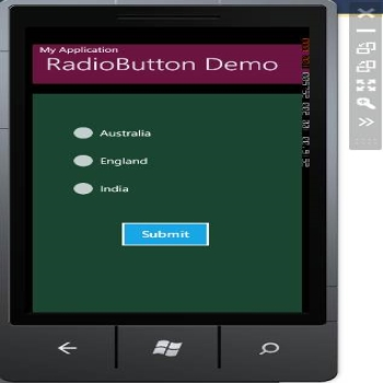 RadioButton Control in Windows 7 Phone Development