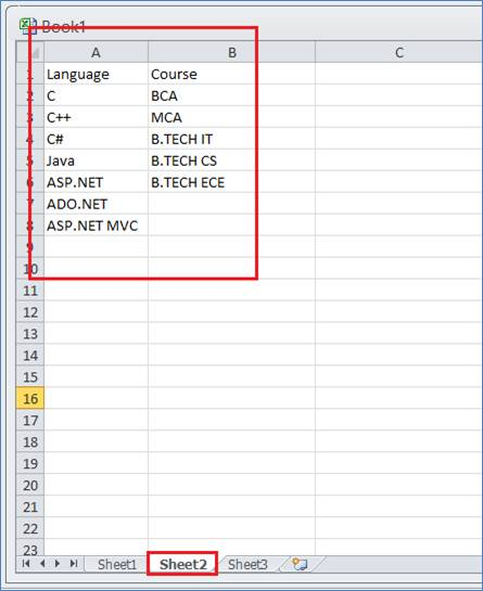 Dropdown Control in Excel