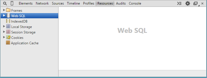 Working with Web-SQL Database & HTML5