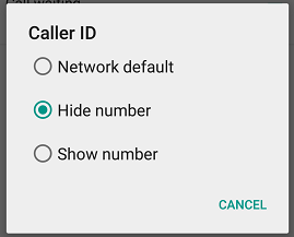 How to hide or withhold your number and Caller ID in Android