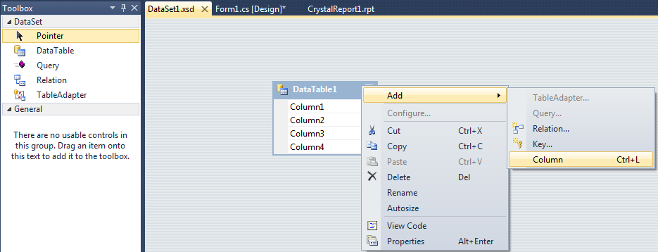 Crystal Report with DataSet