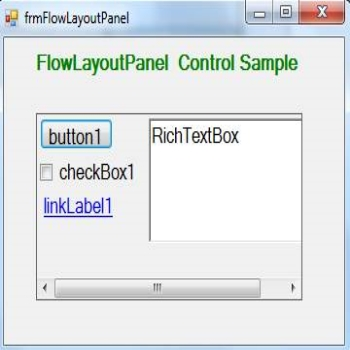 FlowLayoutPanel Control in C#.Net