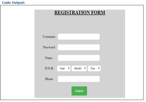 Registration in PHP