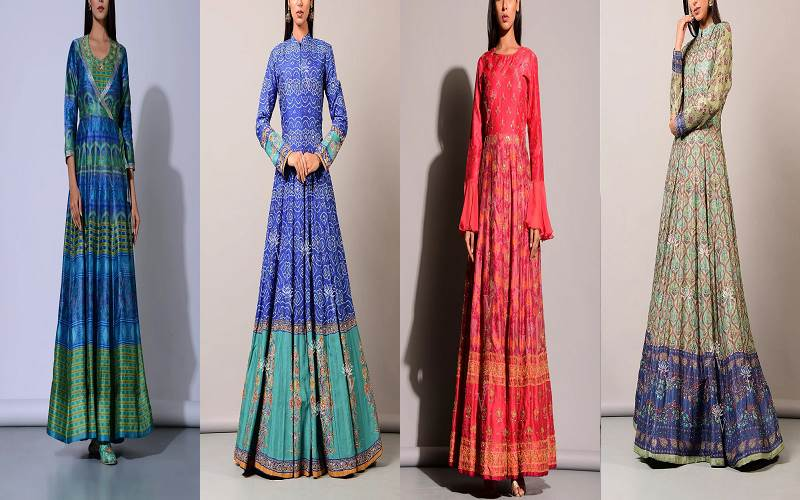 Buy these Fabulous Two-tone Anarkali Suits Online for a Unique Look