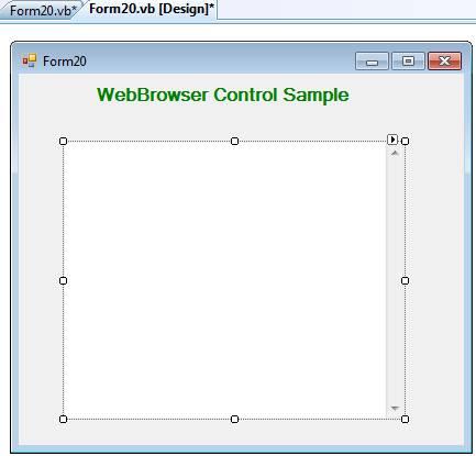 WebBrowser Control in VB Net