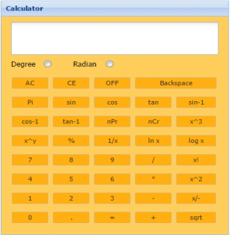 Scientific Calculator layout code in Sencha ExtJs