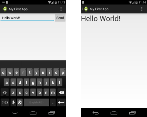 Display Message on ButtonClick in a textView(By starting another activity) in Android